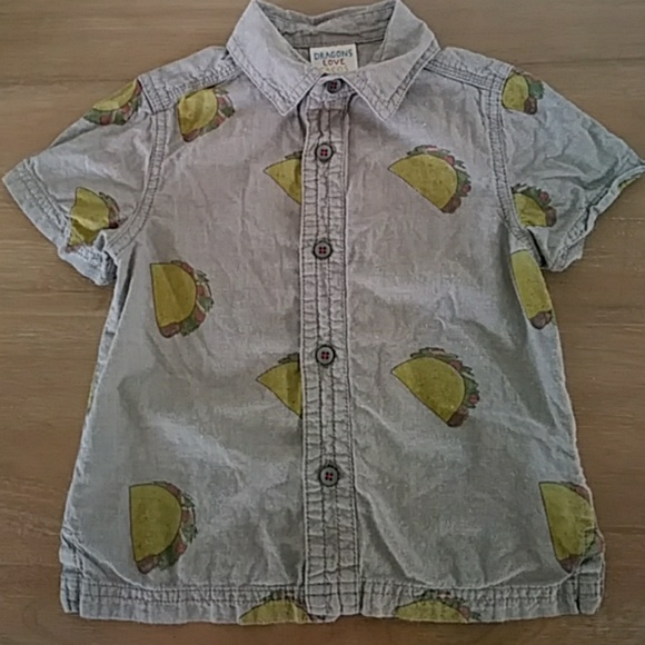 b95d4728c Dragons love tacos Shirts & Tops | Toddler Button Up Taco Shirt ...